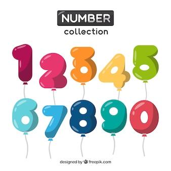Nummernsammlung als ballons