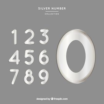 Nummernsammlung mit silber-stil