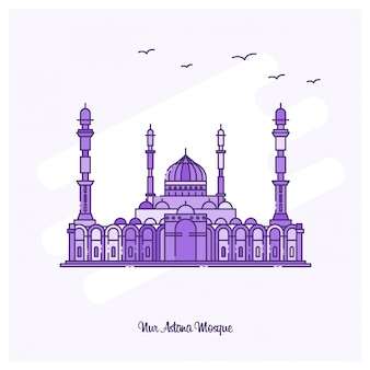 Nur astana mosque wahrzeichen