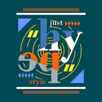Nur hype typografie stil