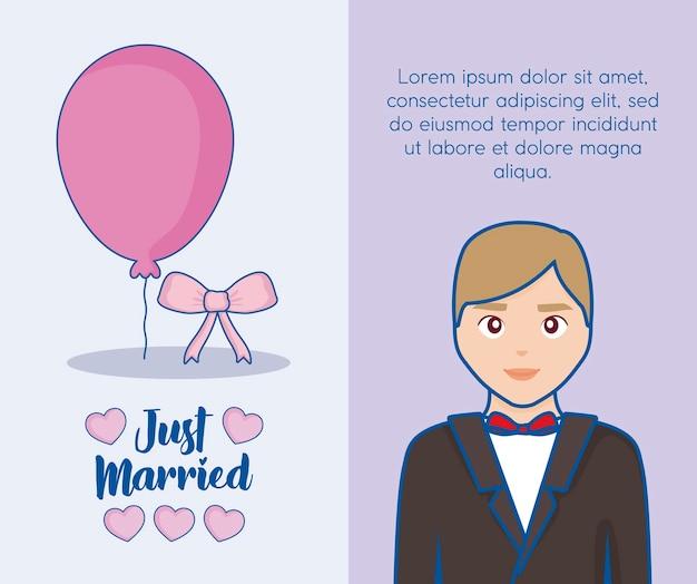 Nur verheiratetes design