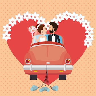 Nur verheiratetes paar mit auto-avataren