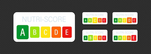 Nutri score vertikale aufkleber gesetzt