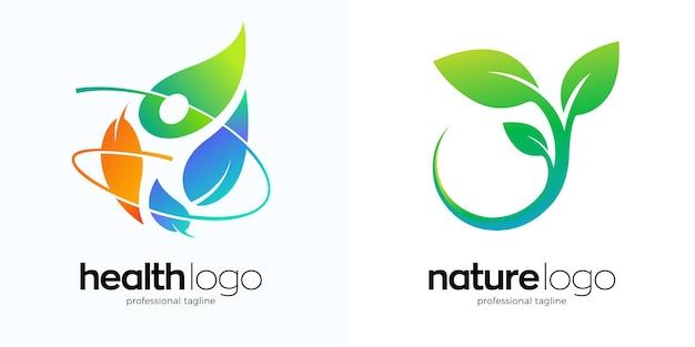 Nutrition logo-design in zwei varianten