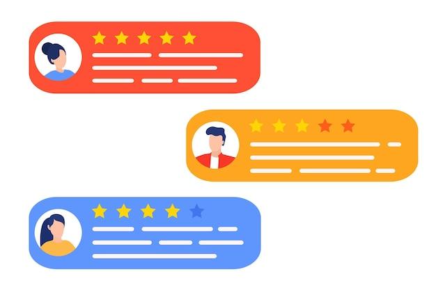 Nutzerbewertungen und feedbackkonzept