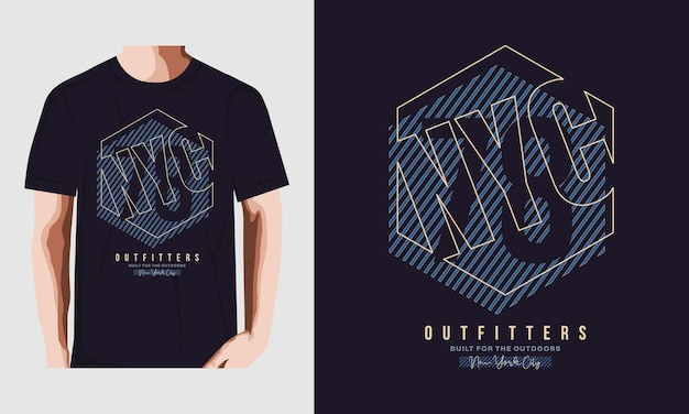 Nyc t-shirt design typografie vektor premium-vektor