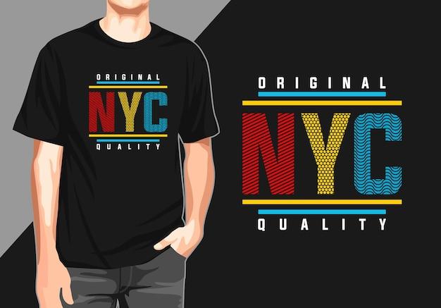 Nyc t-shirt zum drucken