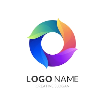 O logo-design, modernes 3d-logo