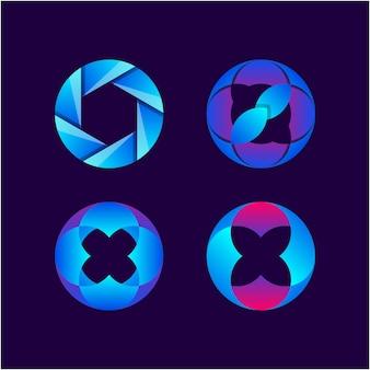 O ornament farbverlauf logo-kollektion