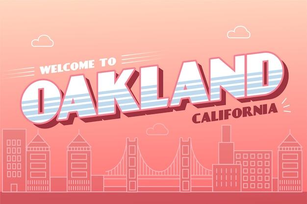 Oakland city schriftzug