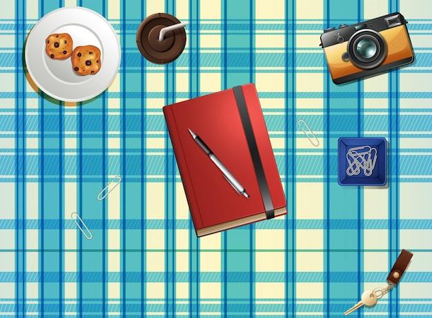 Objekte auf der tischplatte