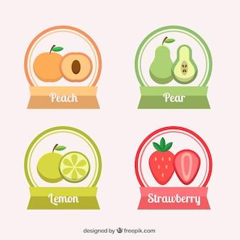 Obst-aufkleber