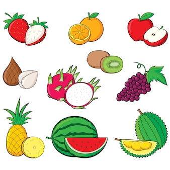 Obst-auflistung