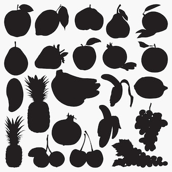 Obst-silhouetten