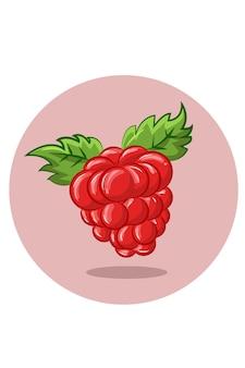 Obst und blätter illustration