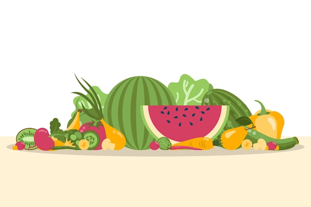 Obst und gemüse hintergrund
