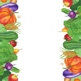 Obst und gemüse rahmen