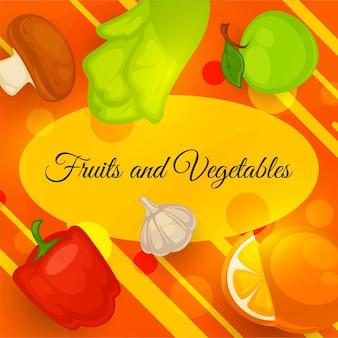 Obst und gemüse, reifes gemüse gesundes essen