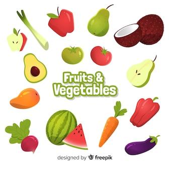 Obst- und gemüsesammlung