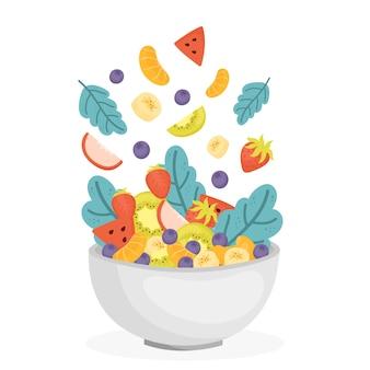 Obst- und salatschüssel