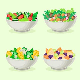 Obst- und salatschüsseln