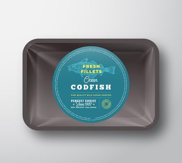 Ocean codfish filets behälter