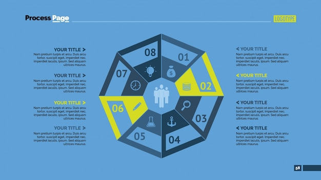 Octagon infografisches design