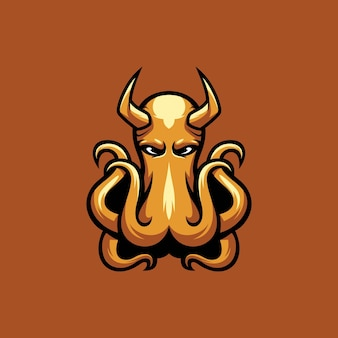 Octopus devil maskottchen esport