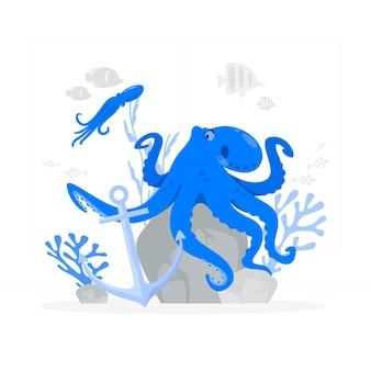 Octopus-konzeptillustration