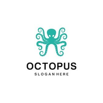 Octopus maskottchen logo vektor