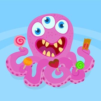 Octopus mit lutscher