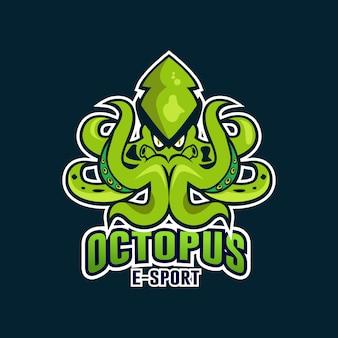 Octopus sport maskottchen-logo