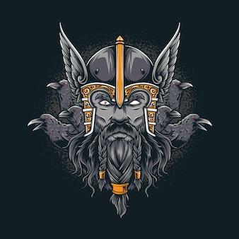 Odin mit rabe