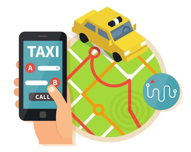 Öffentlicher taxi-online-service