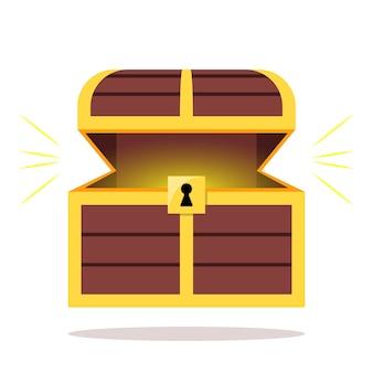 Öffne treasure chest wood