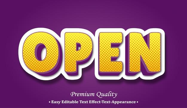 Öffnen sie den 3d-schriftstil-effekt
