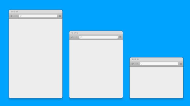 Öffnen sie den browser des internetfensters