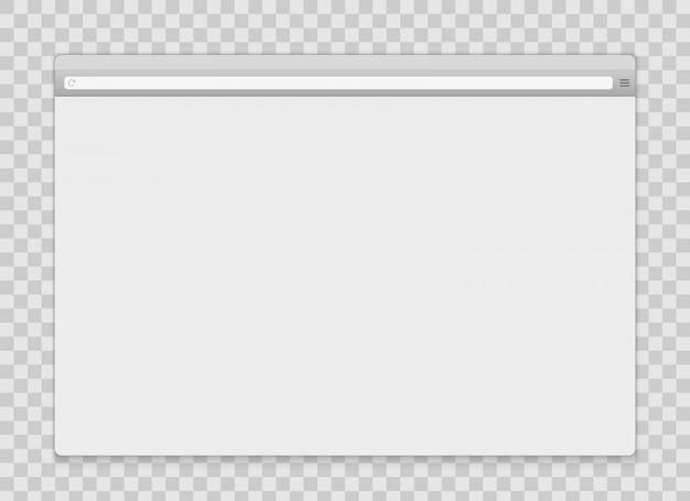 Öffnen sie den browser-hintergrund des internetfensters.