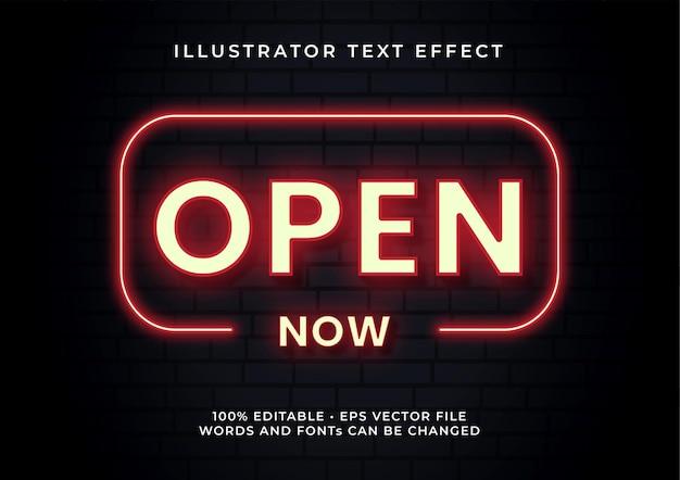 Öffnen sie den texteffekt