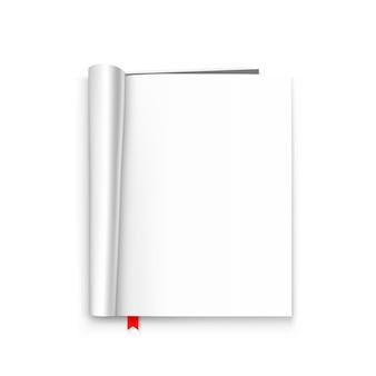 Öffnen sie die papierjournal-kunst. vektor-illustration