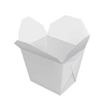 Öffnen sie weißen chinesischen schnellimbissbehälter