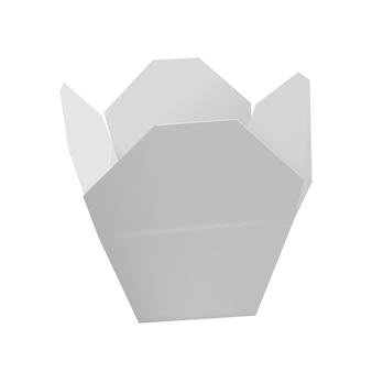 Öffnen sie weißes chinesisches restaurant nehmen kasten heraus