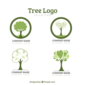 Öko-baum-logo-sammlung