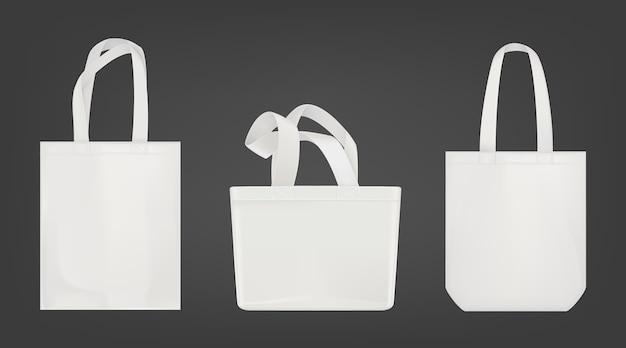 Öko-einkaufstaschen in weiß