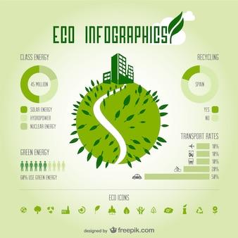 Öko grüne infografie vektor