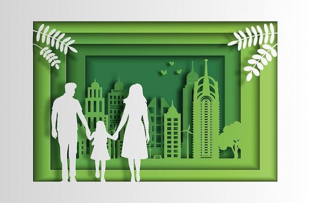 Öko grüne stadt