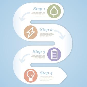 Öko-infografik-elemente. einstellen .
