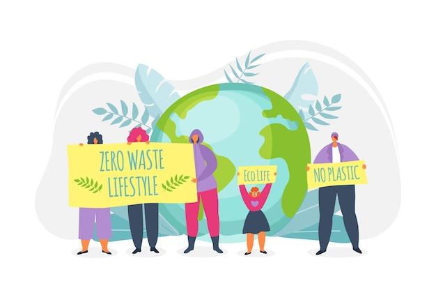 Öko-leben auf grünem planeten, ökologie, umwelt