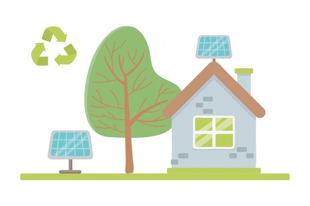 Öko-stadt und rette den planeten