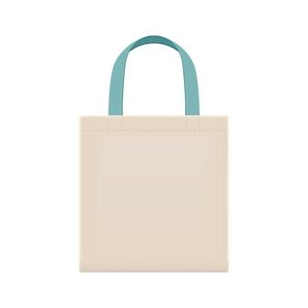 Öko-stoffbeutel sind leer, um den abfall mit plastiktüten zu reduzieren